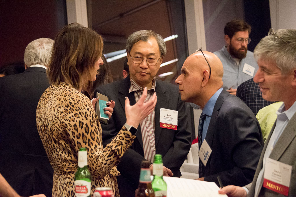Christina Segro, Brown Rudnick; Sam Kongsamut, Institute for Life Science Entrepreneurship; Parsa Mirhaji, Cognome